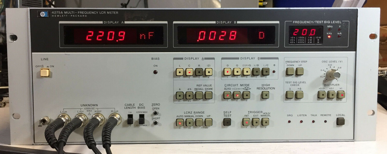 Hp Agilent 4275a Multi Frequency Lcr Meter 89999 Picclick Lc Based On Pic16f84a 1 Of 9 See More