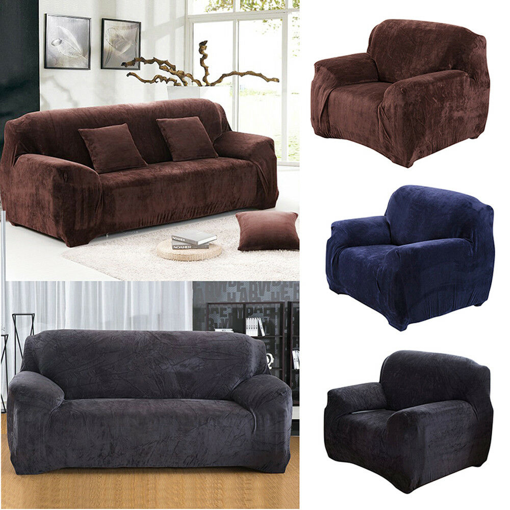 verdickung pl sch sofabez ge elastizit t hussen sofa abdeckung slipcover couch picclick de. Black Bedroom Furniture Sets. Home Design Ideas