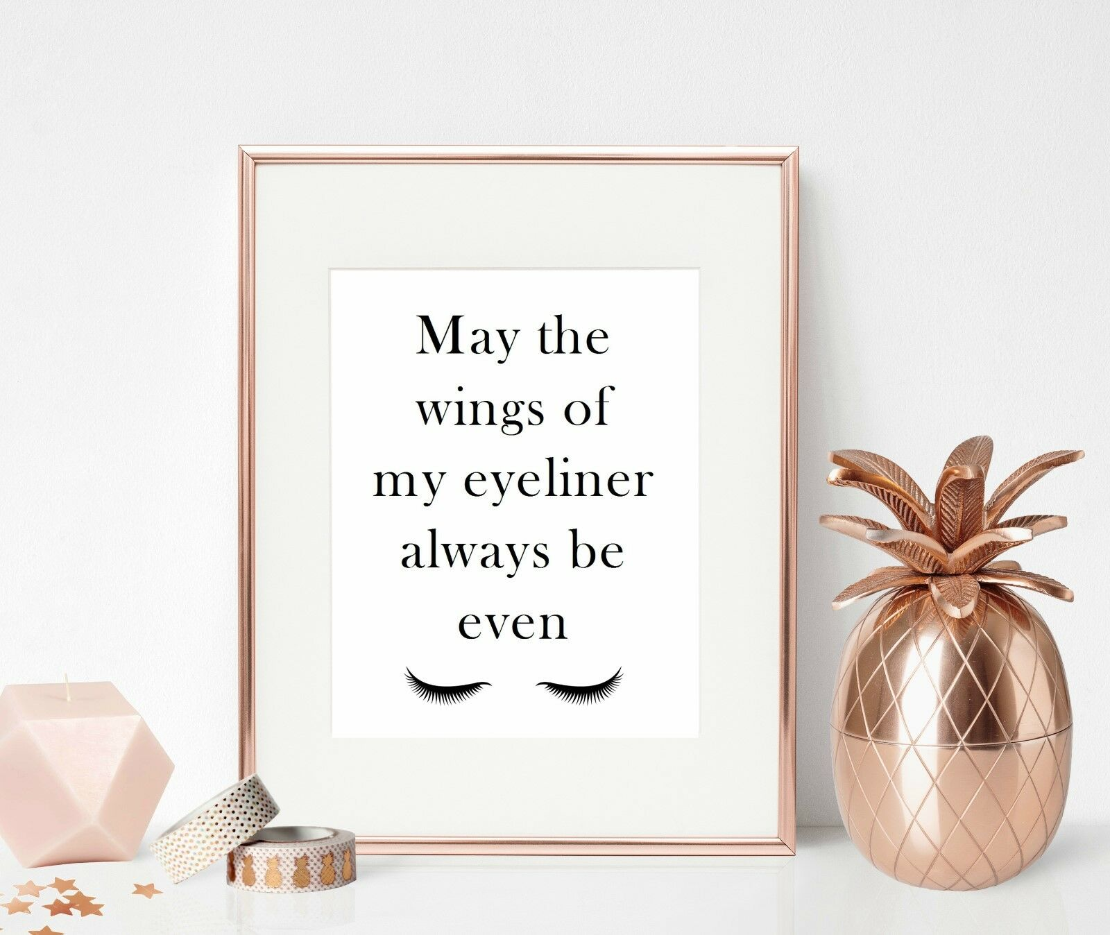Makeup beauty quote print bedroom dressing room decor sign for Room decor 6d