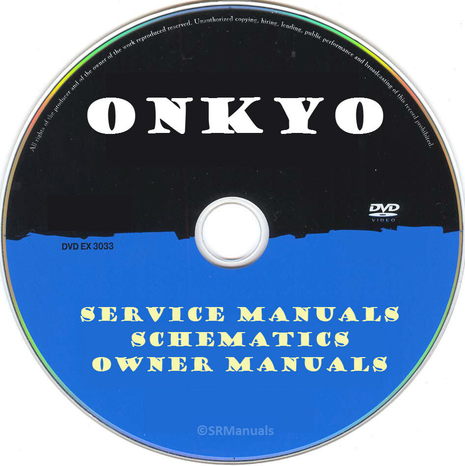 onkyo service manuals schematics pdfs on dvd huge collection