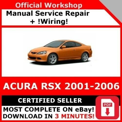 factory workshop service repair manual acura rsx 2001 2006 wiring rh picclick co uk Acura RSX Type S Acura RSX Interior