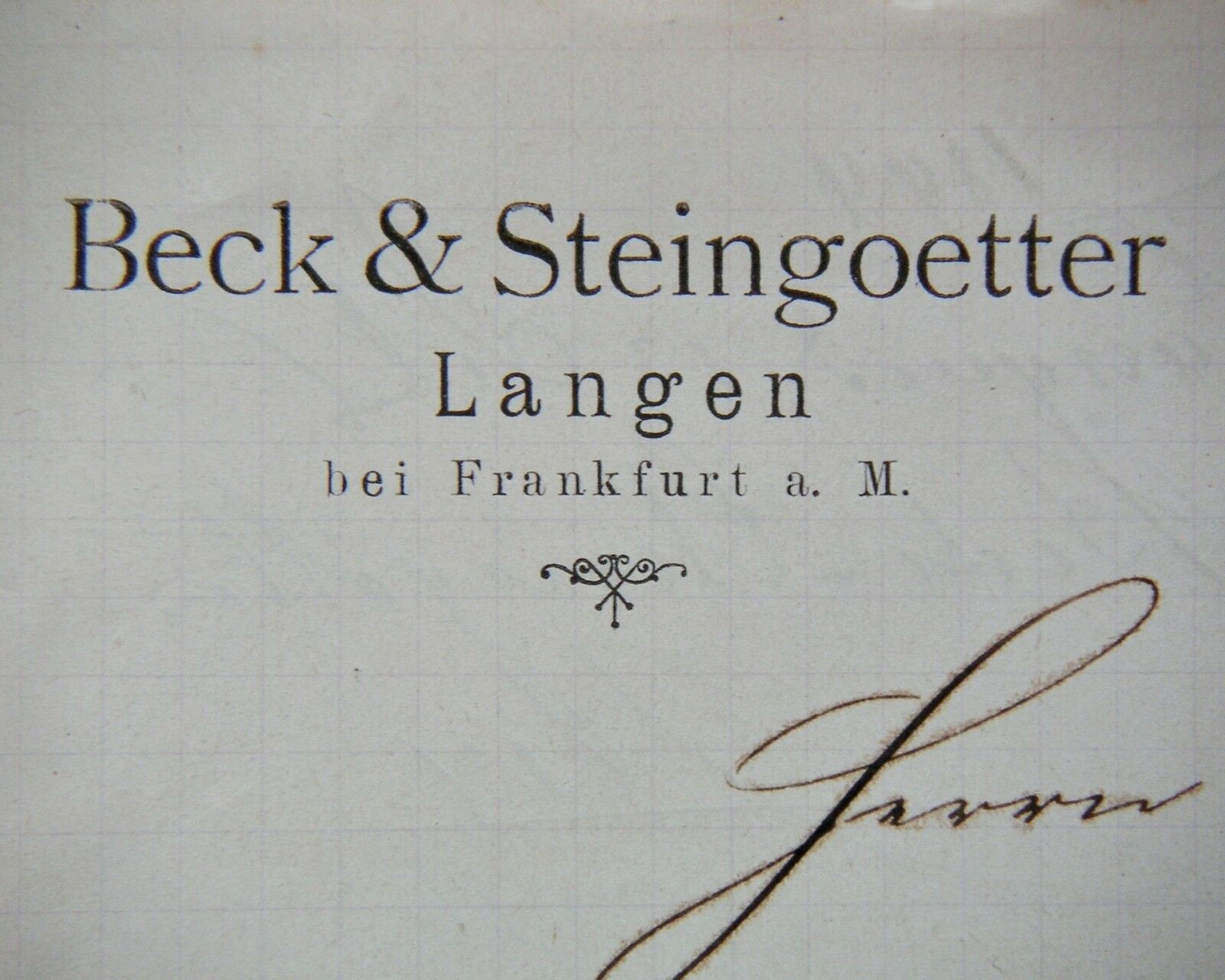 langen frankfurt 1894 beck steing tter main neckar. Black Bedroom Furniture Sets. Home Design Ideas