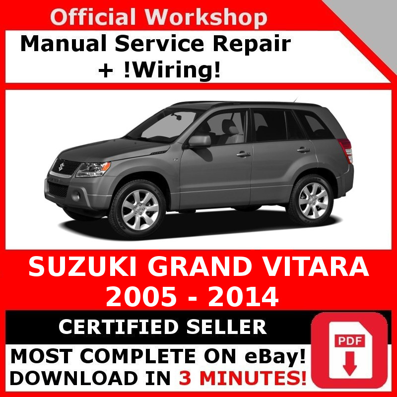 factory workshop service repair manual suzuki grand vitara 2005 rh picclick co uk Suzuki Alto Suzuki Swift