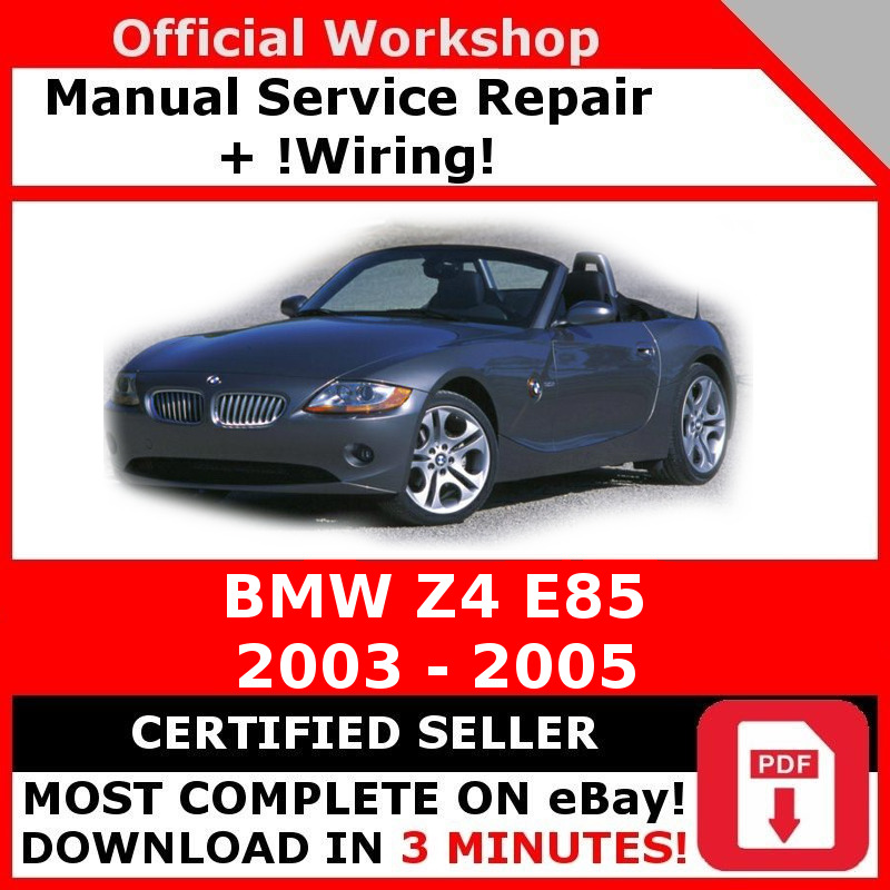 factory workshop service repair manual bmw z4 e85 2003 2005 rh picclick co uk Z4 E86 Z4m E85