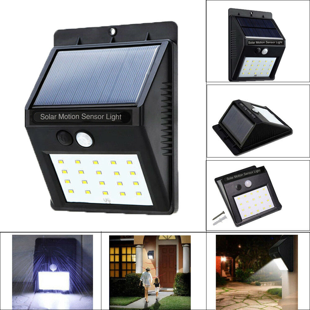 Waterproof 20 Leds Solar Power Pir Motion Sensor Wall Light Outdoor Powered Garden Lamp With 1 Of 12free Shipping