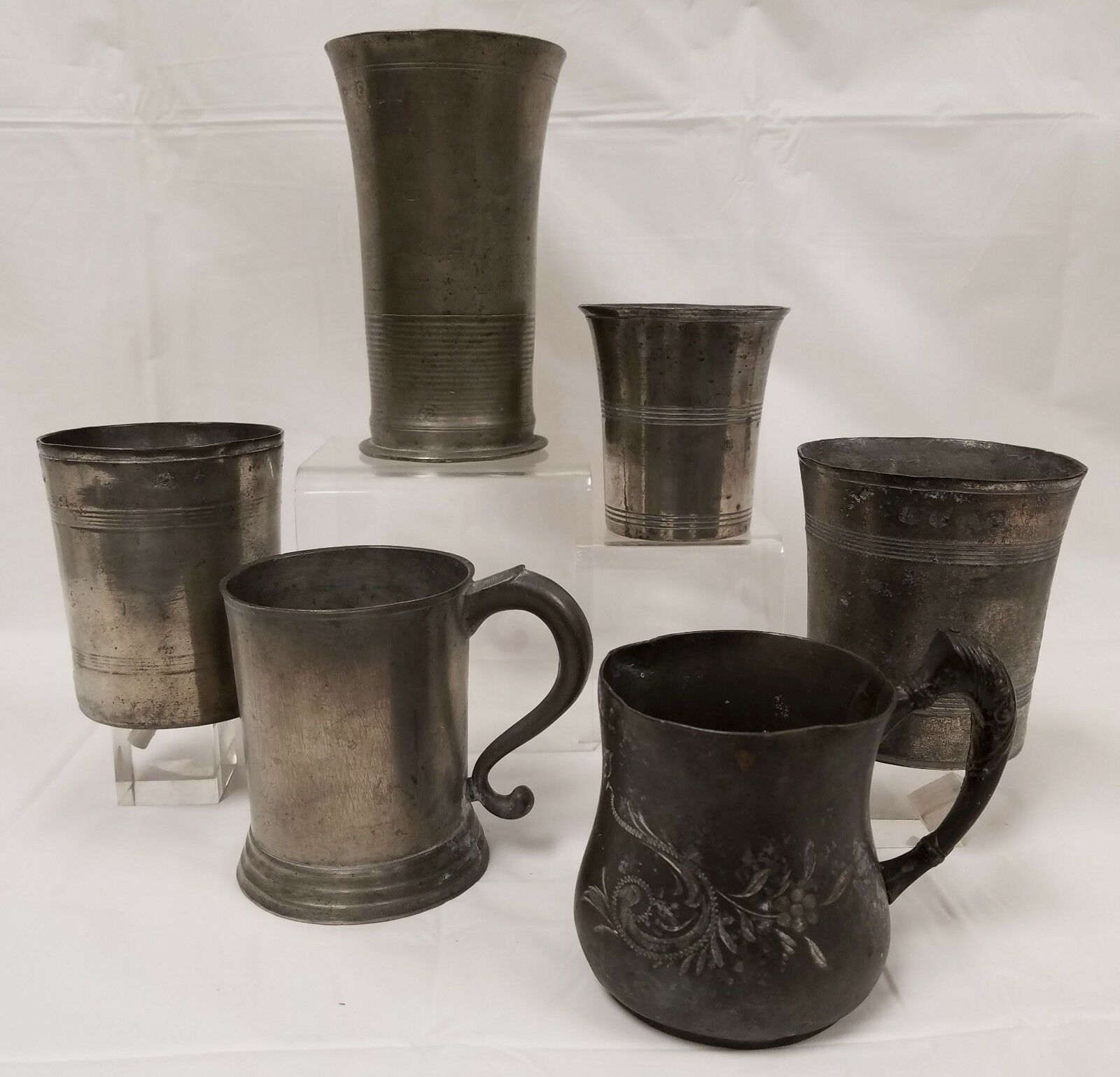 Antique 5 Piece Pewter Lot 1 Of 12Only 1 Available ...