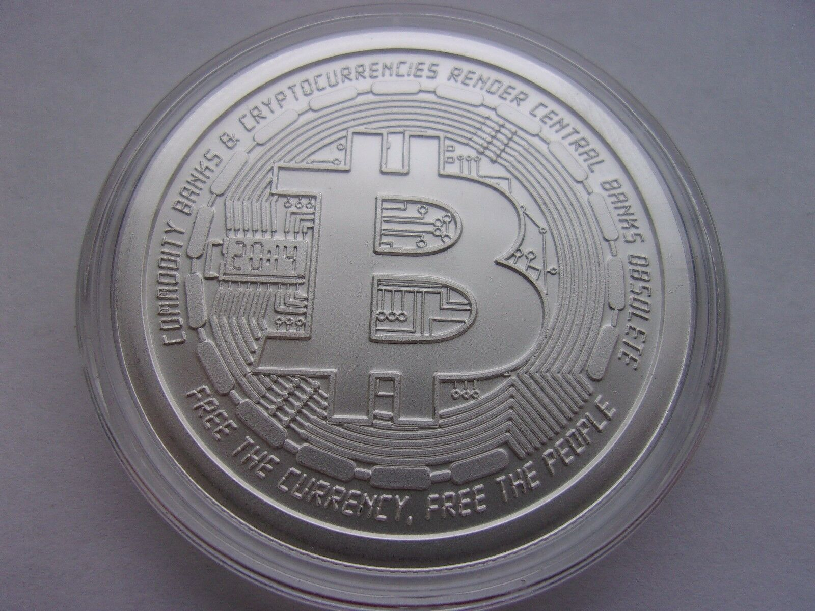 Bitcoin 1 Oz 999 Silver Bitcoin Commemorative Coin