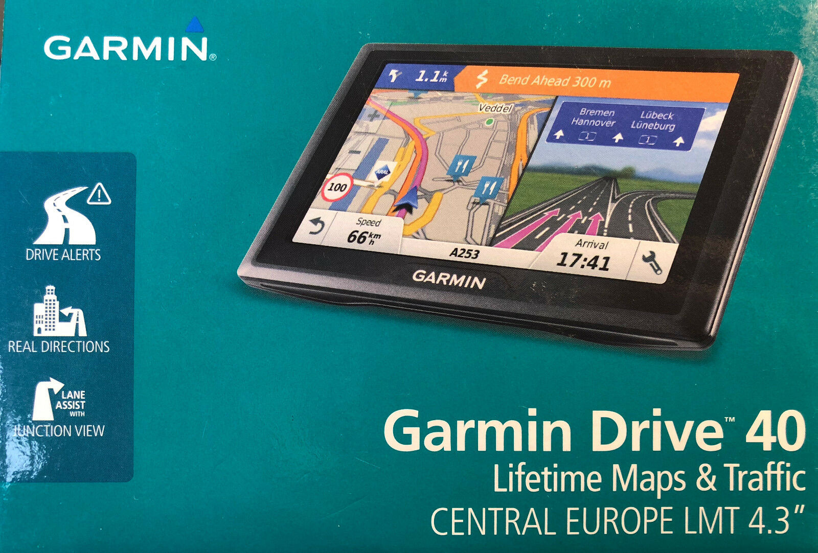 garmin drive 40lmt ce navigationsger t 10 9 cm 4 3 zoll display zentraleuropa eur 94 00. Black Bedroom Furniture Sets. Home Design Ideas
