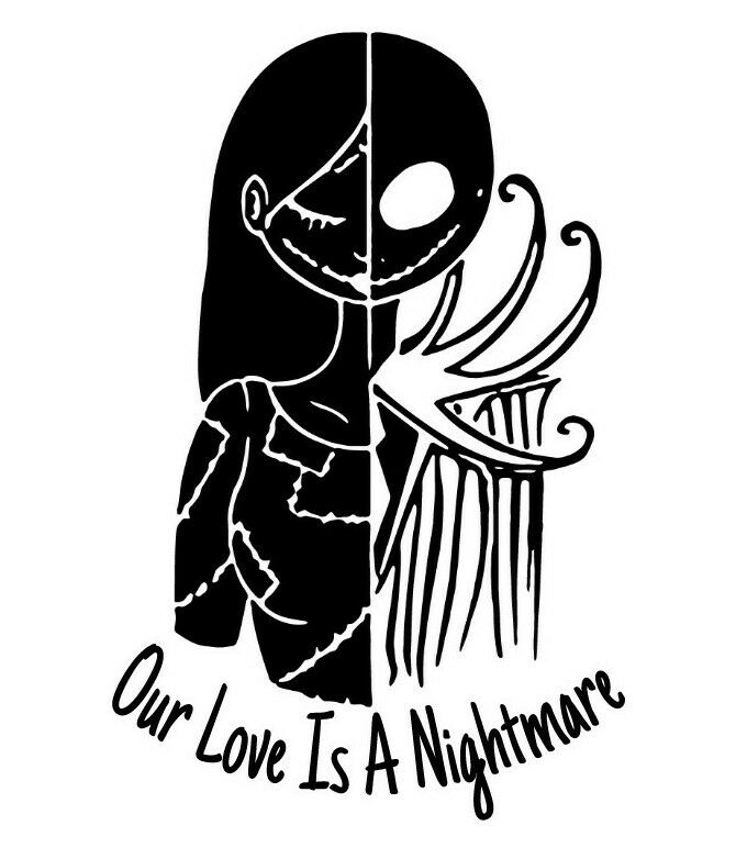 jack skellington and sally nightmare before christmas love wall decal home 1 of 1 see more - Jack From Nightmare Before Christmas