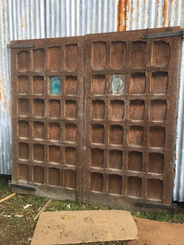 1 of 12Only 2 available ... - LARGE SOLID OAK GARAGE DOORS ANTIQUE PERIOD OLD WOOD RECLAIMED ARTS