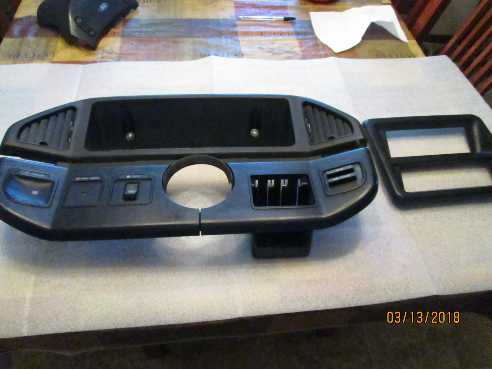 89 Ford Bronco F150 Black Dash W Radio Bezel 4x4 Gas Tank Factory Stereo Wire Harness 1 Of 4only Available