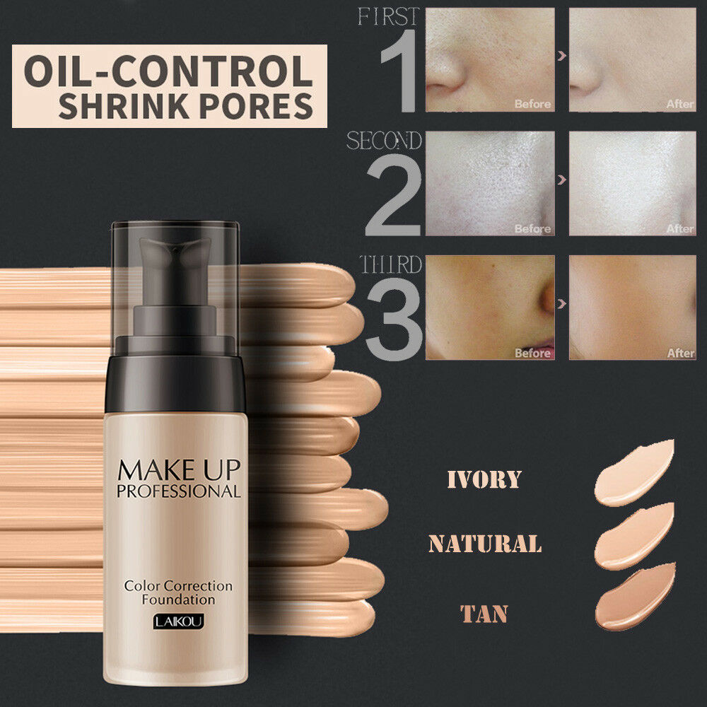 Liquid Foundation Face Color Waterproof Concealer Coverage Makeup Make Over 1 Of 12free Shipping