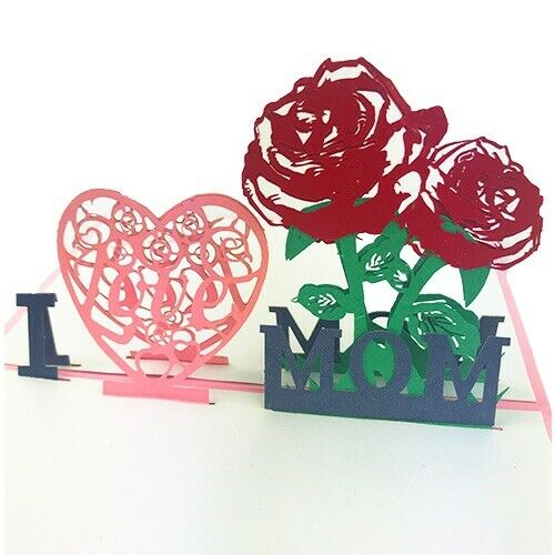 3d Pop Up Cards I Love You Birthday Happy Greeting Card Best Mom