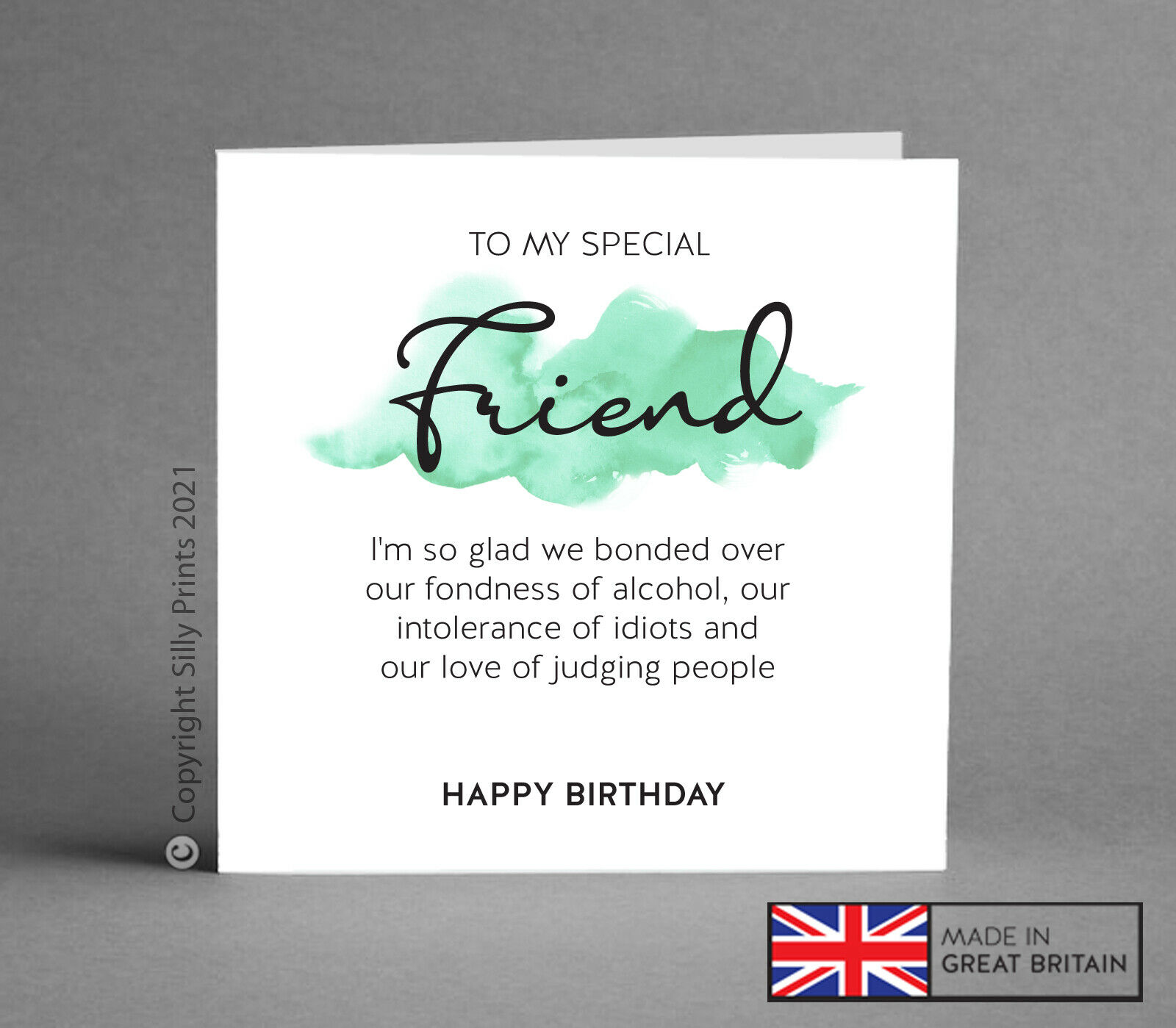 Funny Birthday Card Best Friend Gift Idea Wine Gin Rude Comedy Silly