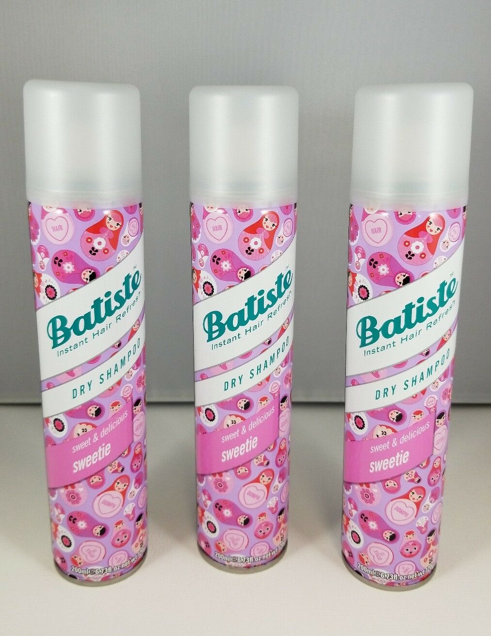Lot Of 3 Batiste Dry Shampoo Sweet Delicious Sweetie 673 Oz Each Wild 1 3only Available