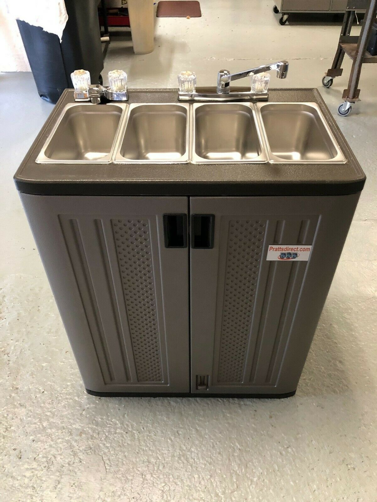 PORTABLE FOOD TRUCK Trailer Concession Sink Hand Wash 3 Compartment ...