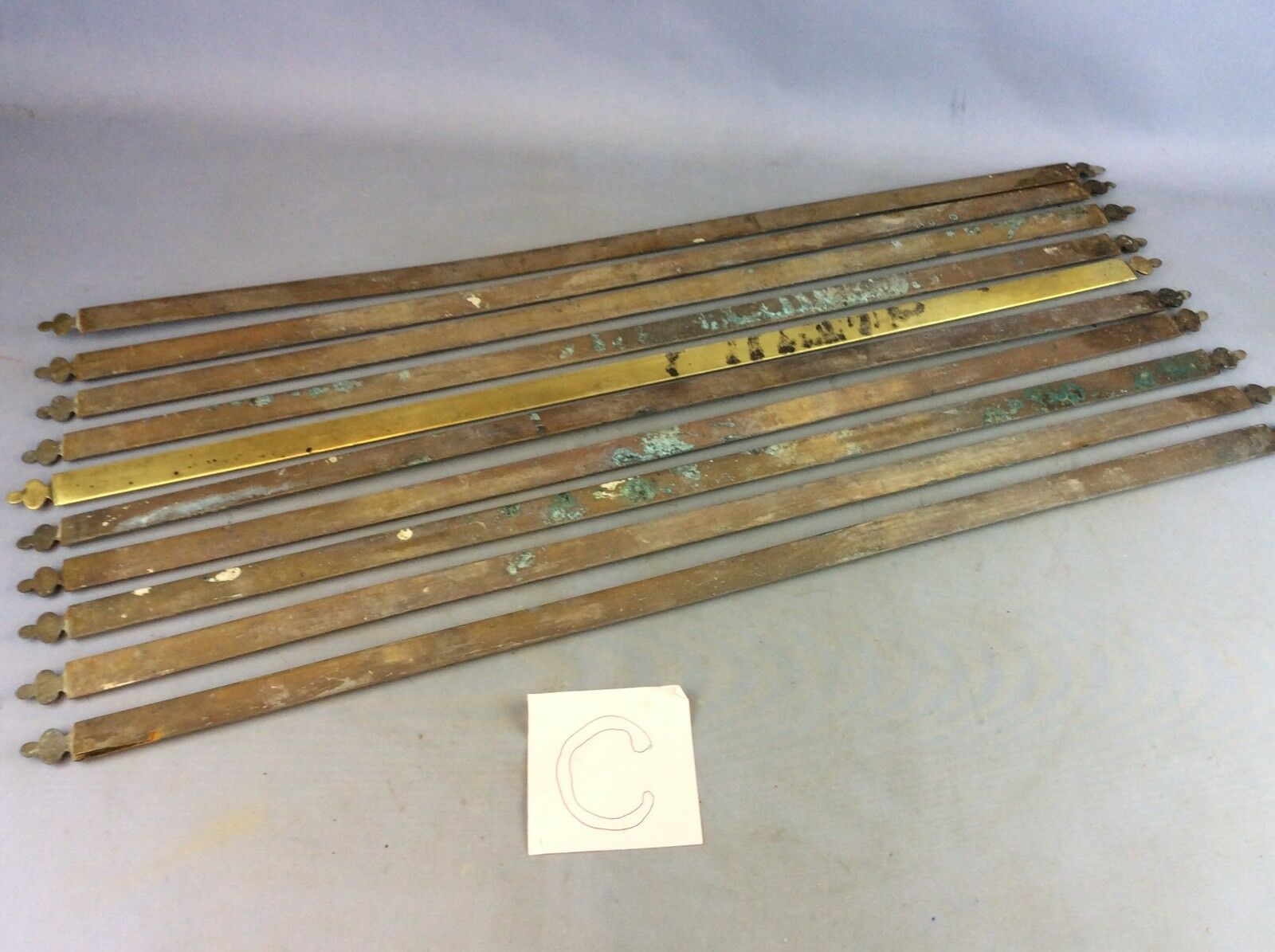 Charmant Set Of X 10 Reclaimed Edwardian Brass Stair Rods Fleur De Lis Trefoil 1 Of  11Only 1 Available See More