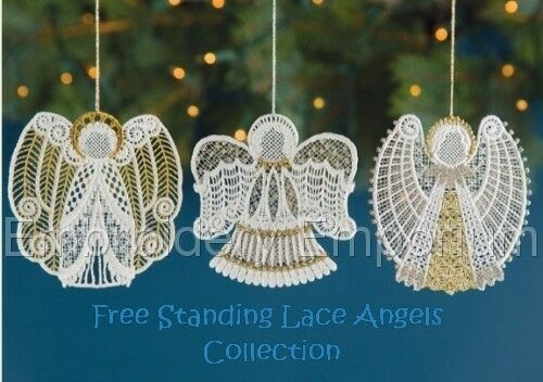 Free Standing Lace Angels Collection Machine Embroidery Designs On