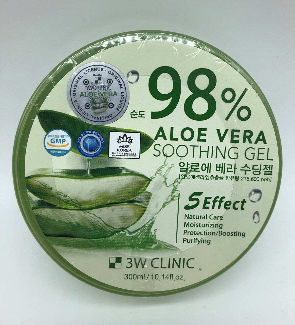 3w Clinic 98 Aloe Vera Soothing Gel Relax Moisture 300g Korean Beauty K Jeju Fresh Shooting 1 Of 2only Available