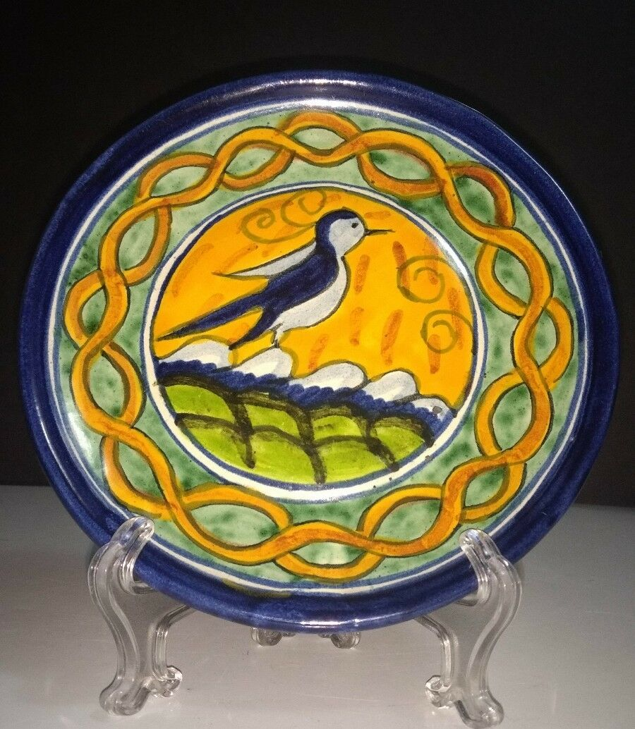 VINTAGE TALAVERA MEXICAN Pottery Hand Painted 8\
