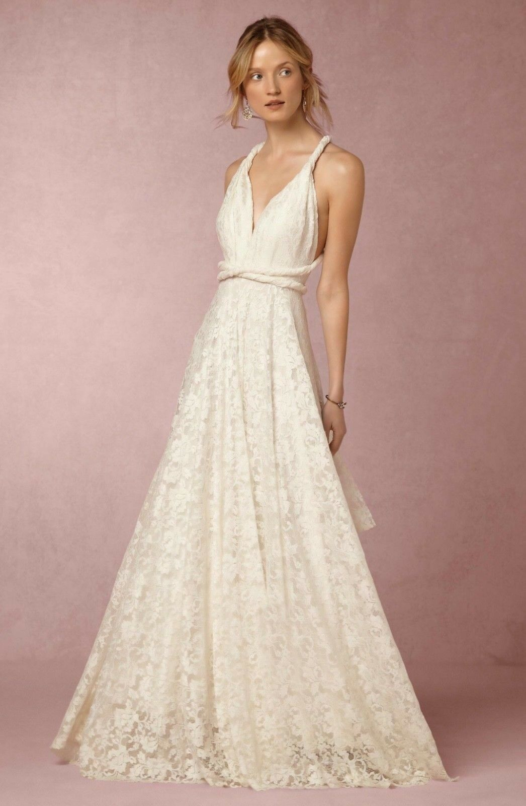 NEW ANTHROPOLOGIE BHLDN Twobirds Noelle Lace Wedding Dress Bridal ...
