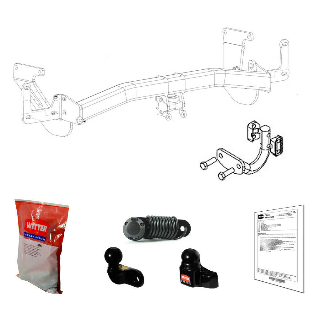 Witter Towbar For Toyota Proace Van Mpv 2016 Onwards Flange Tow Wiring Diagram 1 Of 6free Shipping