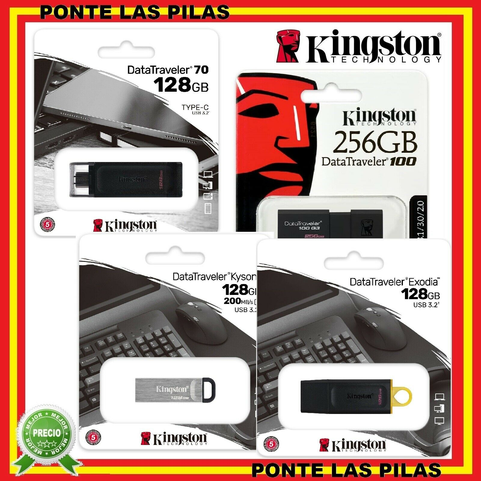 Pendrive Kingston 8gb 16gb 32gb 64gb Usb 30 8 Gb 16 32 Flashdisk 1 Sur Voir Plus
