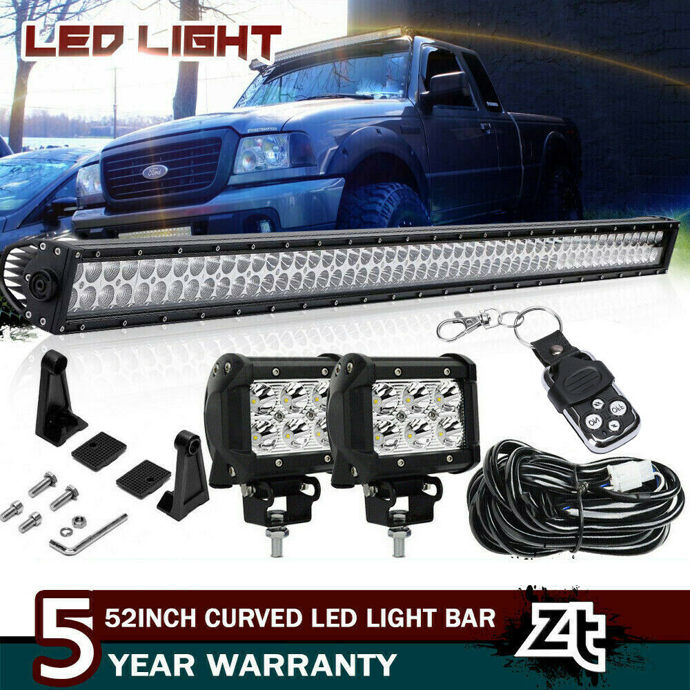 1993 2011 Ford Ranger 50 Curved Led Light Bar Combo Upper Roof Power Window Motor For Windshield Mount 1 Of 10free Shipping