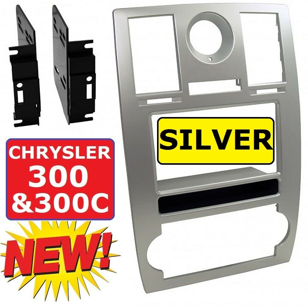 05 06 07 Chrysler 300 Silver Car Radio Stereo Installation Dash Kit Back Fuse Box On 2007 Trim Panel 1 Of 2free Shipping See More