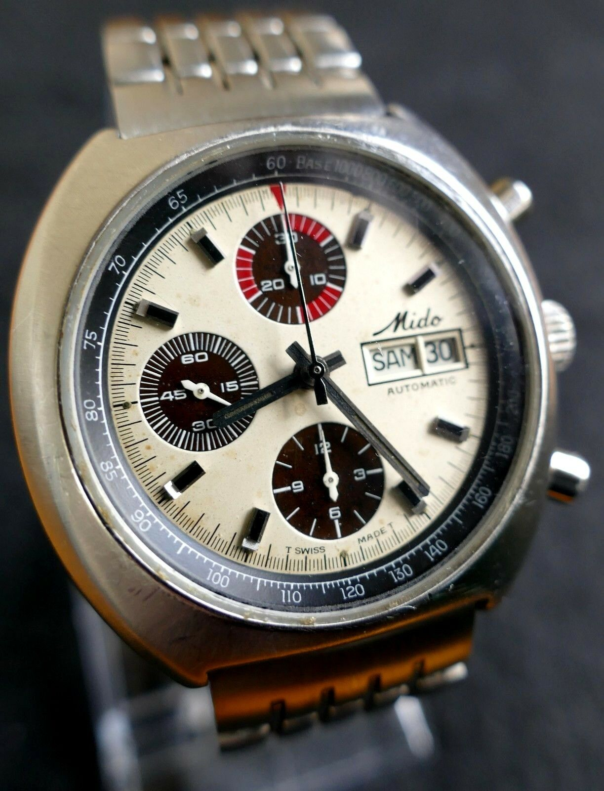 Vintage Mido Automatic Chronograph Watch Uhr Reloj Montre Orologio 1 of 7  See More