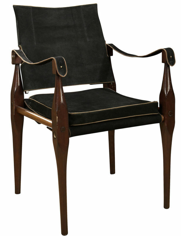 Campaign Suede Roorkhee Chair Highly Portable Furniture