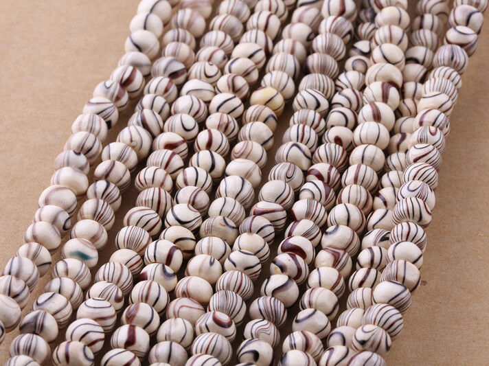 200 Streak Wood Spacer Loose Beads Bracelets Necklace Charms findings 6mm