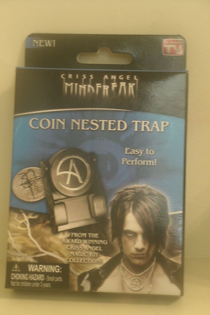 Criss Angel Mind Freak COIN NESTED TRAP Magic Trick New