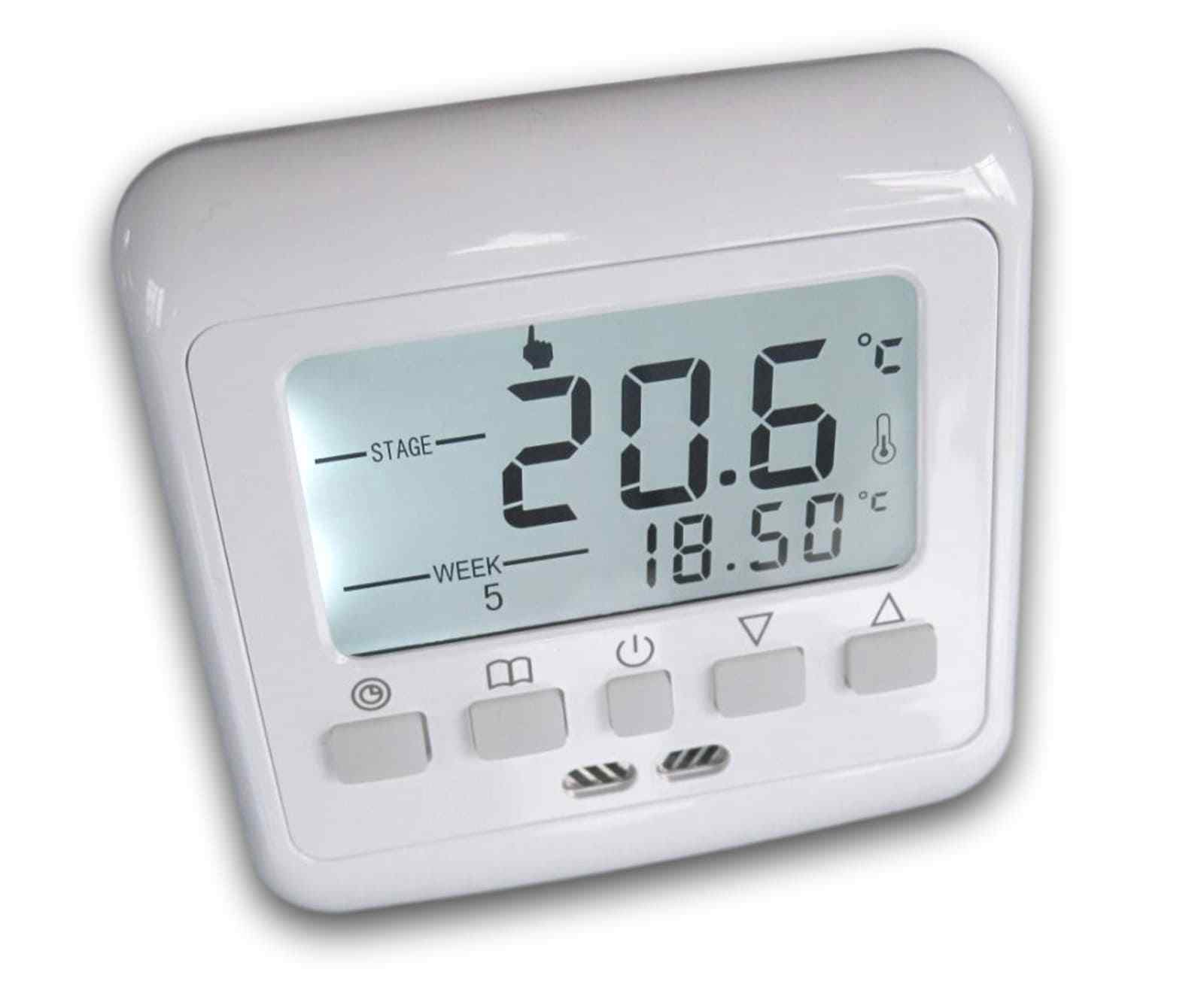 digital thermostat raumthermostat 831 lcd weiss fussbodenheizung wandheizung eur 16 99. Black Bedroom Furniture Sets. Home Design Ideas