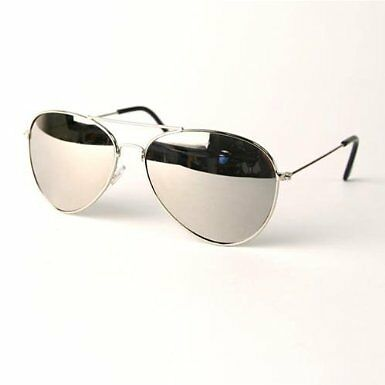 FULL MIRROR ORIGINAL AVIATOR SILVER COLOR SUNGLASSES COME WITH MICROFIBER BAG