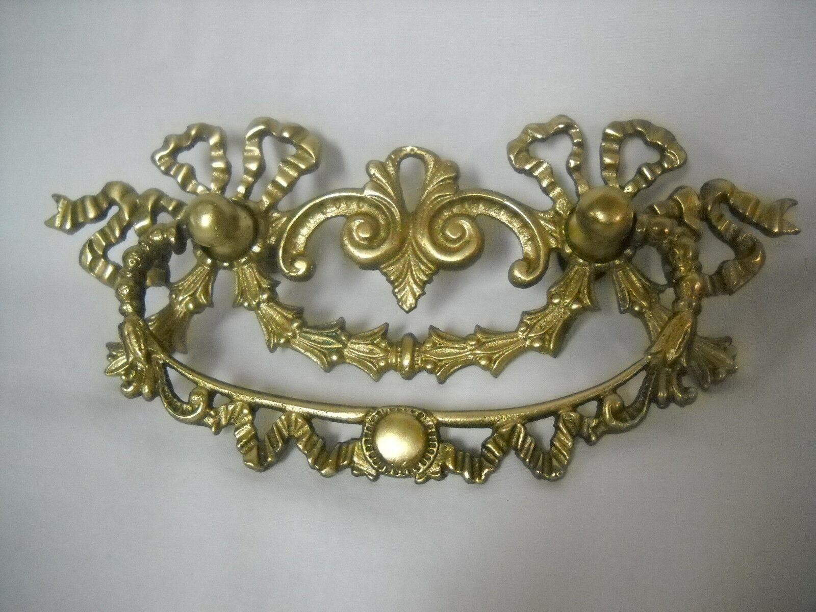 """Large Cast Brass Antique Victorian Drawer Pull 6.5"""" X 3"""""""