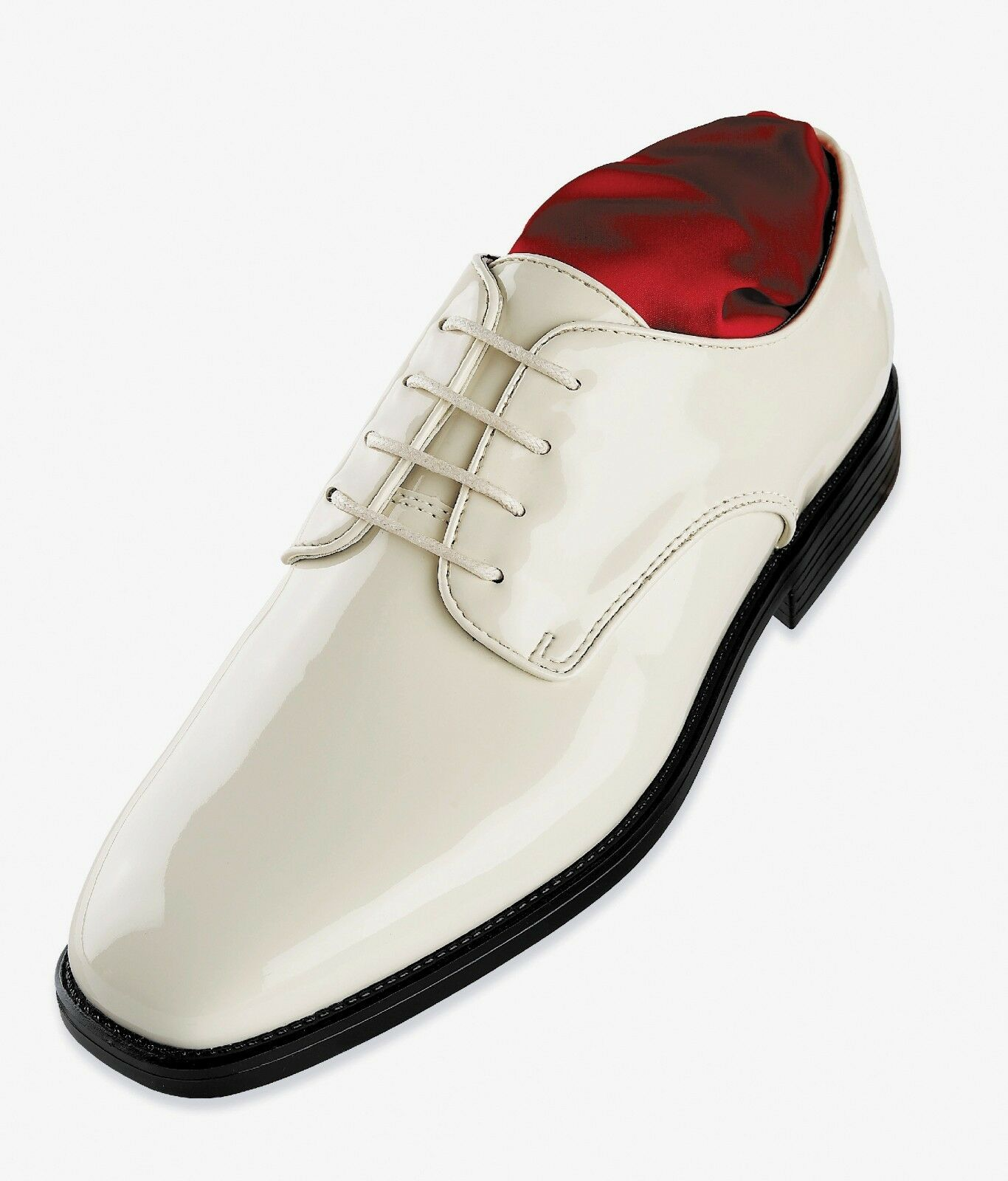 mens after six st010 tuxedo formal dress shoes white patent