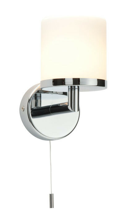 28w ip44 modern chrome white glass bathroom wall light for Bathroom zone 3