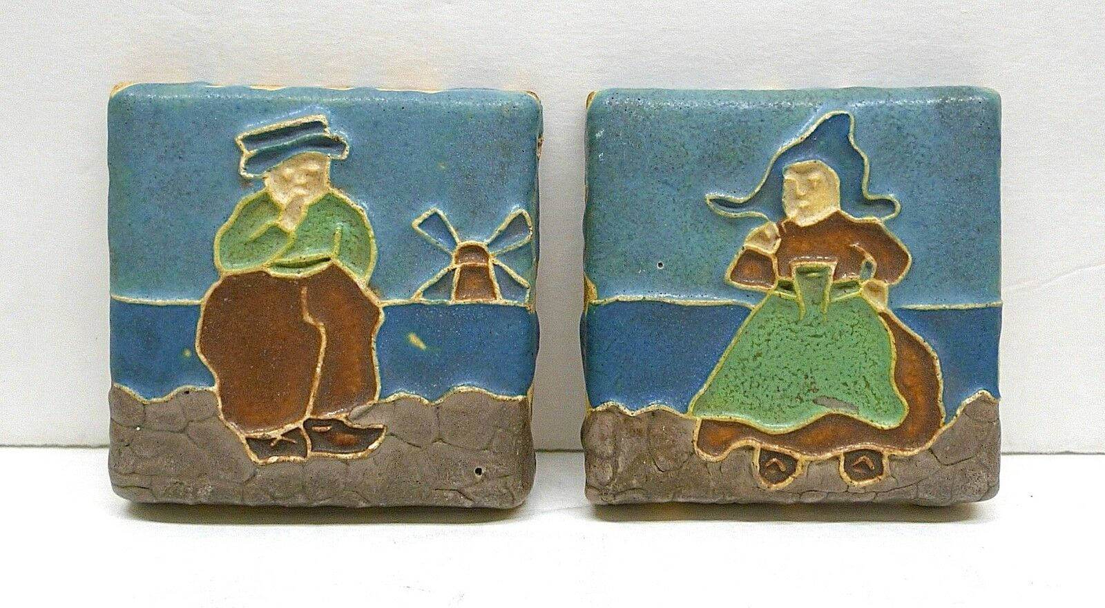 VINTAGE CALCO TILES - Dutch Girl & Dutch Boy - $500.00 | PicClick