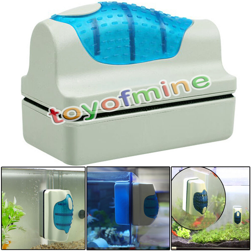 New Magnetic Aquarium Fish Tank verre algue Scraper Cleaner flottant Clean Brush