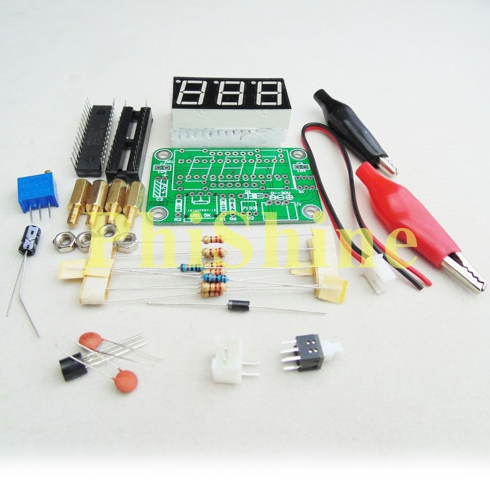 Voltmeter Diy Kit Voltage Meter Electronic Production Suite Shaped Flash Light Lamp Circuit Board
