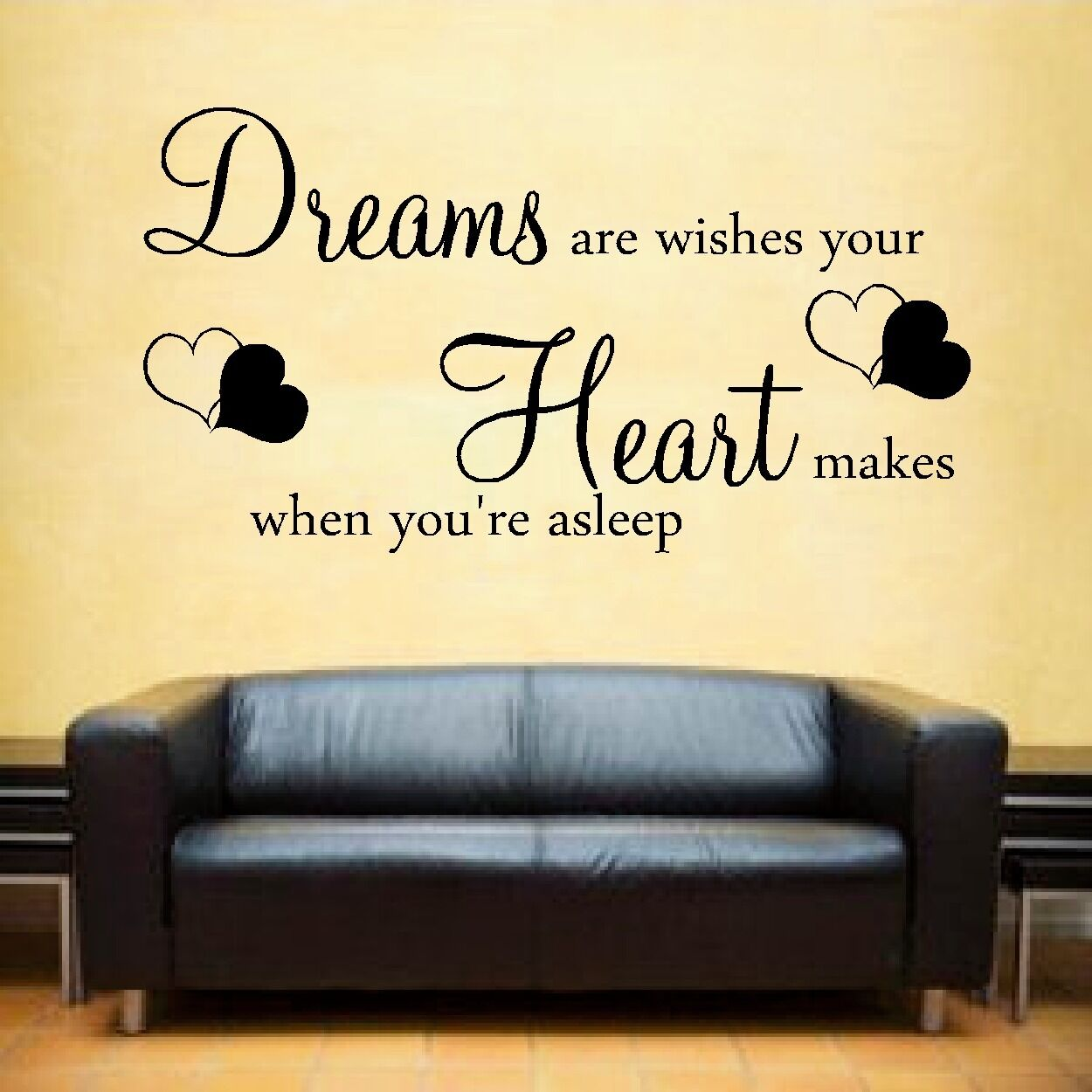 DREAMS are wishes Wall Art Sticker inspirational quote - £6.99 ...