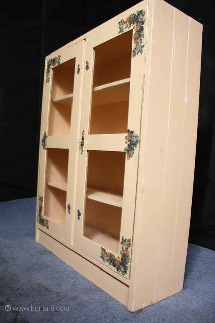 shabby chic antike vitrine b cherschrank standregal glast ren sammler v. Black Bedroom Furniture Sets. Home Design Ideas
