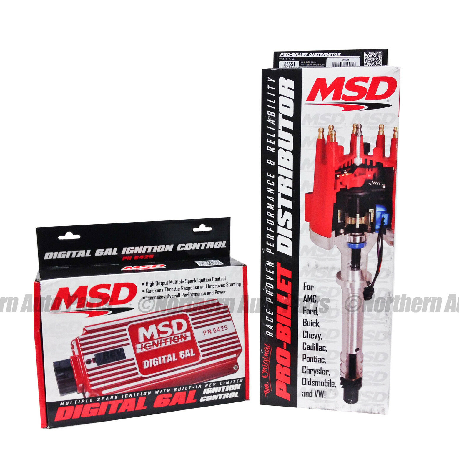 Msd 6425 85551 Combo Kit Inc 6al Box With Pro Billet Distributor Chevy Digital Wiring 1 Of See More