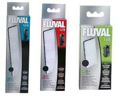 Fluval U 2 3 4 Poly / Carbon Cartridge Underwater Filter Media Tropical Fish