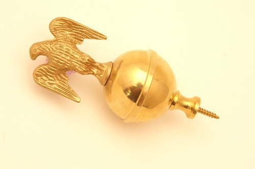 Brass ball eagle spire finial grandfather clock watch tool