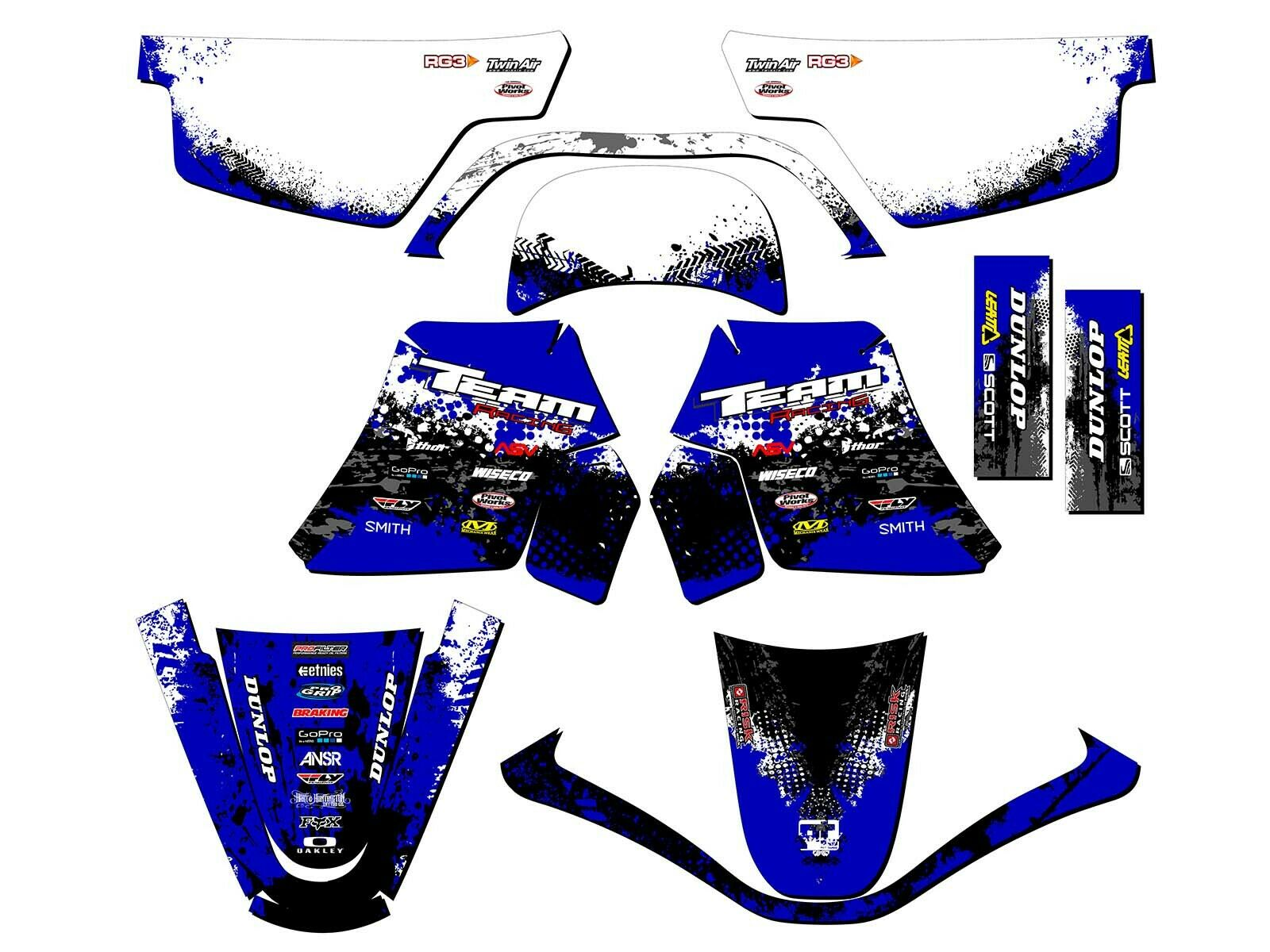 1990 2018 yamaha pw 50 graphics kit decals stickers all years deco pw50 mx picclick. Black Bedroom Furniture Sets. Home Design Ideas