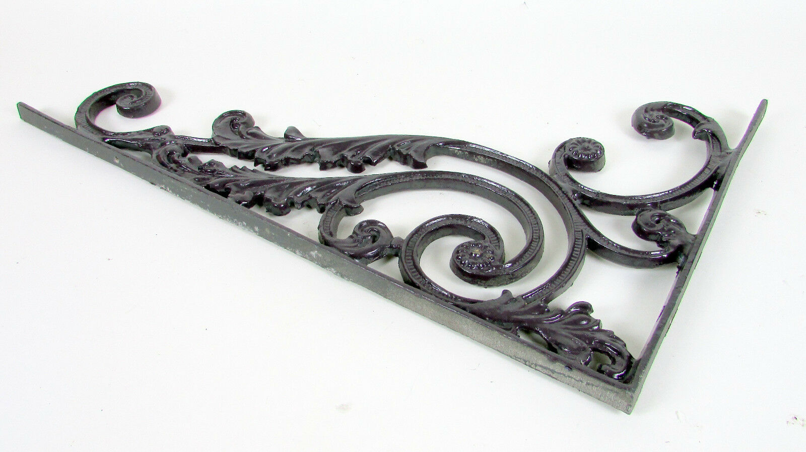 "Vintage 23"" Inch Ornate Cast Aluminum Mail Box Floral Filigree Corner Bracket"
