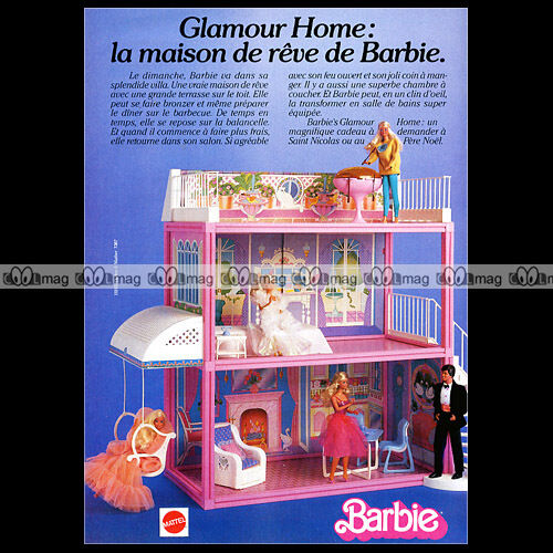 mattel vintage barbie glamour home maison de r ve 1985 pub publicit ad a167. Black Bedroom Furniture Sets. Home Design Ideas