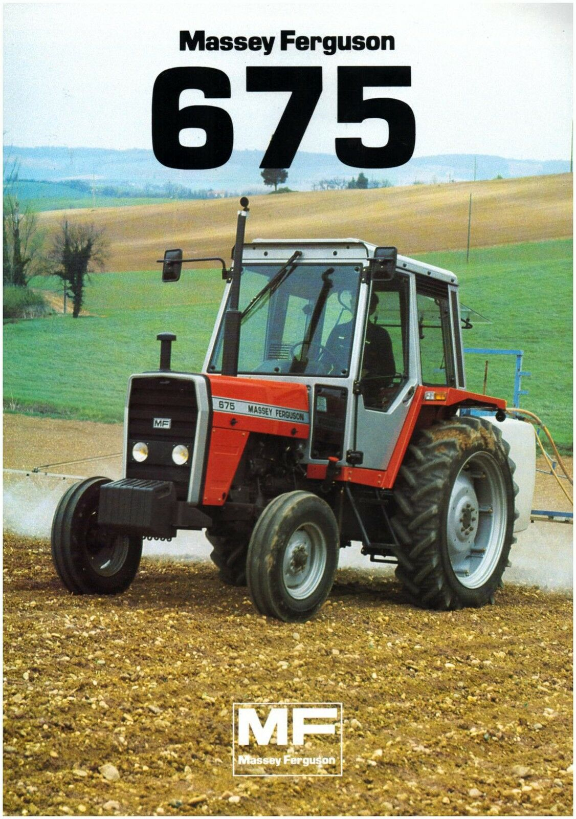 Brochure Leaflet Tracteur Tractor Massey Ferguson MF 675 2 pages 1 of 1Only  1 available See More